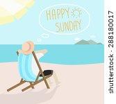 Happy Sunday   Vector