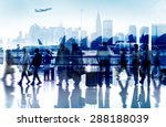 business people travel... | Shutterstock . vector #288188039