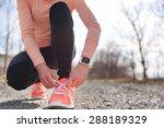 running shoes and runner sports ... | Shutterstock . vector #288189329