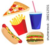 yummy fast food vector... | Shutterstock .eps vector #288212531