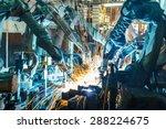 team welding robots represent... | Shutterstock . vector #288224675