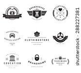 retro logotypes vector set.... | Shutterstock .eps vector #288227381