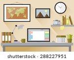flat design vector illustration ... | Shutterstock .eps vector #288227951