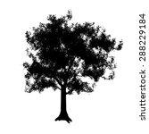 tree silhouette  | Shutterstock . vector #288229184