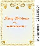 christmas frame with balls | Shutterstock .eps vector #288235304