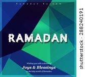 ramazan kareem  ramadan kareem  ... | Shutterstock .eps vector #288240191