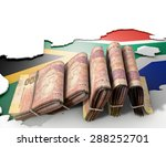 the shape of the country of... | Shutterstock . vector #288252701