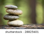 zen stones stacked on a grass... | Shutterstock . vector #28825601