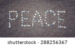 'peace' Word Written With...