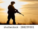Military. Soldier Silhouette I...