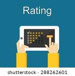 rating illustration. flat... | Shutterstock .eps vector #288262601