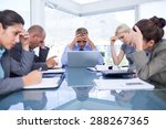 business team smiling at camera ... | Shutterstock . vector #288267365