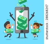 business concept cartoon... | Shutterstock .eps vector #288268247