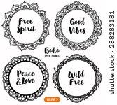 set of ornamental boho style... | Shutterstock .eps vector #288283181