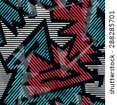 urban geometric seamless... | Shutterstock .eps vector #288285701