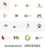 set of new universal company... | Shutterstock .eps vector #288285881