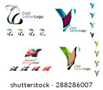 letter business emblems  icon... | Shutterstock .eps vector #288286007