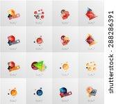 modern geometric design... | Shutterstock .eps vector #288286391