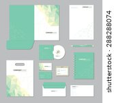 stationery template design.... | Shutterstock .eps vector #288288074