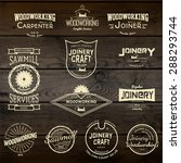 woodworking badges logos and... | Shutterstock .eps vector #288293744
