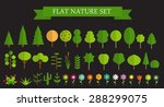 paper trendy flat trees and... | Shutterstock .eps vector #288299075