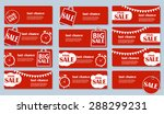 sale banner set with place for... | Shutterstock .eps vector #288299231