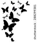 Stock vector butterflies design 288299381