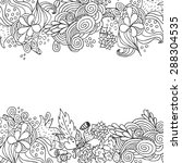 Hand Drawn Floral Vector Doodl...