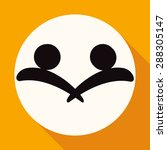 hands deal design icon on white ... | Shutterstock .eps vector #288305147
