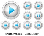multimedia player control... | Shutterstock .eps vector #28830809