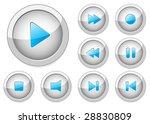 multimedia player control... | Shutterstock .eps vector #28830809