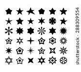 star icon set | Shutterstock .eps vector #288309554