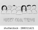 group of people expressing... | Shutterstock . vector #288311621