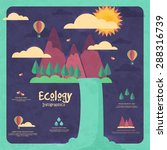 stylish ecological infographic... | Shutterstock .eps vector #288316739