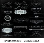 set of calligraphic elements... | Shutterstock .eps vector #288318365
