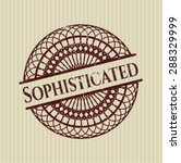 sophisticated rubber stamp | Shutterstock .eps vector #288329999