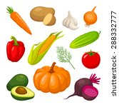 vegetables | Shutterstock .eps vector #288332777