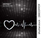 abstract heart beats cardiogram ... | Shutterstock .eps vector #288339959