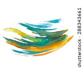 abstract watercolor brush... | Shutterstock . vector #288343661