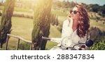 portrait of summer girl on...   Shutterstock . vector #288347834