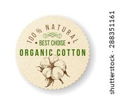 organic cotton round label with ... | Shutterstock .eps vector #288351161