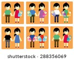 family vector set | Shutterstock .eps vector #288356069
