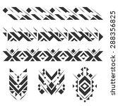 vector ethnic geometric... | Shutterstock .eps vector #288356825