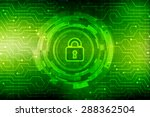 security concept  lock on... | Shutterstock . vector #288362504