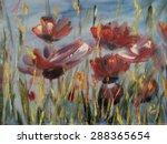Poppy  Flower Abstract  Modern...