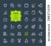 outline web icon set   sport... | Shutterstock .eps vector #288371039