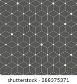 vector hexagon geometric pattern | Shutterstock .eps vector #288375371