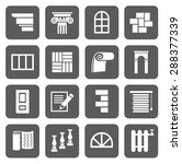 the icons are flat construction ... | Shutterstock .eps vector #288377339