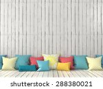 colorful cushions on the... | Shutterstock . vector #288380021