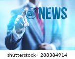 news concept word illustration... | Shutterstock . vector #288384914